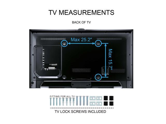 fitueyes tv stand with swivel mount component shelf for 32 65 inch samsung vizio lg. Black Bedroom Furniture Sets. Home Design Ideas