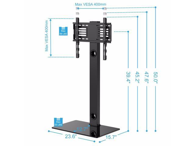 "Fitueyes Universal TV Stand Base with Swivel Mount Height Adjustable for 32"" to 50""TV"