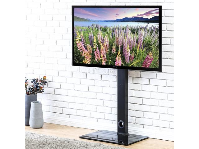 """Fitueyes Universal TV Stand Base with Swivel Mount Height Adjustable for 32"""" to 50""""TV"""