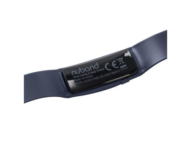 Nuband Lite Navy Blue Slim Activity and Sleep Tracking Band Apple and Android App Compatible