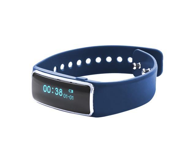 Nuband Lite Royal Blue Slim Activity and Sleep Tracking Band Apple and Android App Compatible