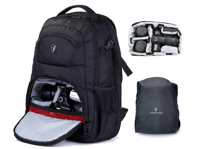 463d5190b0 Victoriatourist V6022 Laptop Backpack for SLR Cameras and 15.6-Inch Laptops  With Rain Cover ...