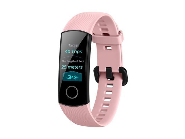 HUAWEI Honor Band 4 Smart Bracelet 0.95 Inch AMOLED Touch Large Color Screen 5ATM Heart Rate Monitor - Pink