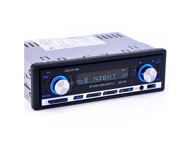 JSD-20158 Universal Car DVD Multifunction MP3 Player Built-in Bluetooth Hands-free Vehicle FM Function - Blcak