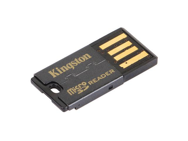 2 Pcs Kingston FCR-MRG2 USB 2.0 microSDHC Flash Memory Card Reader - Black