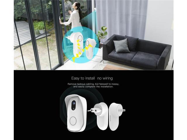 Vstarcam D2 Wireless Wifi Video Doorbell Waterproof IP63 Camera Night Vision Intercom - White US Plug