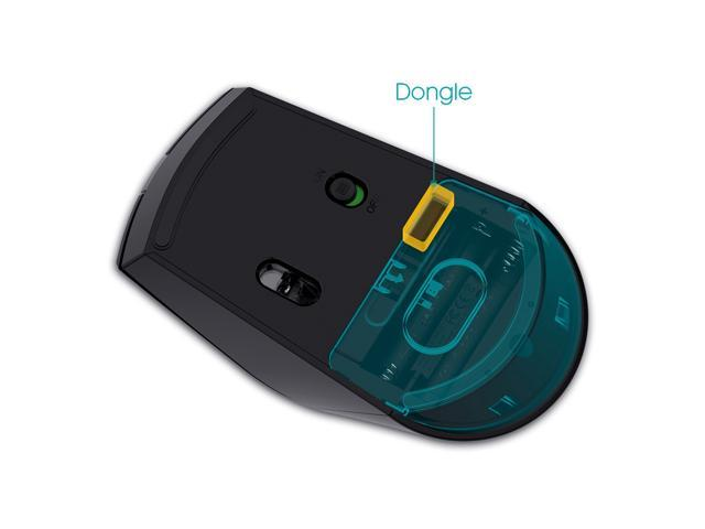 Rii M08 Wireless Mouse 2.4GHz 3200 DPI With Nano Receiver 6 Buttons - Black