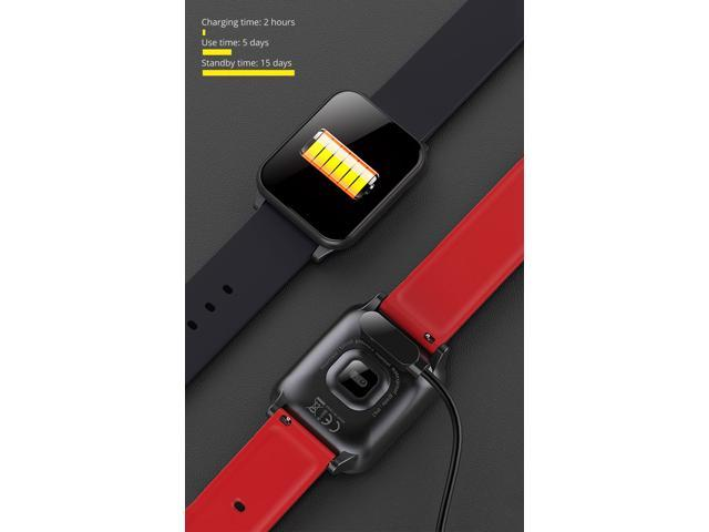 Makibes B02 IP67 Water Resistant Smartwatch Fitness Tracker 1.3 inch Blood Pressure color UI Wristband - Black