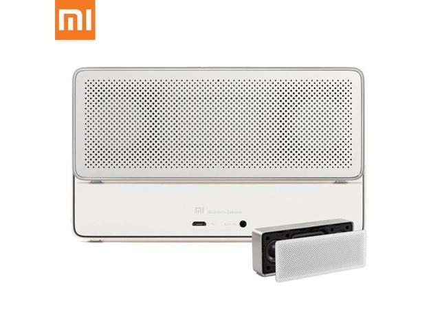 Original Xiaomi Square Box 2 1200mAh AUX Line-in Hands-free Wireless Bluetooth V4.2 Speaker with Mic - White