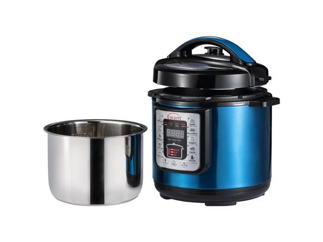 Ewant Stainless Steel Multifunctional Electric Pressure Cooker, Super Safe & Reliable Programmable Pressure Cooker with 3 Level Pressure Setting, 6 QT, Blue