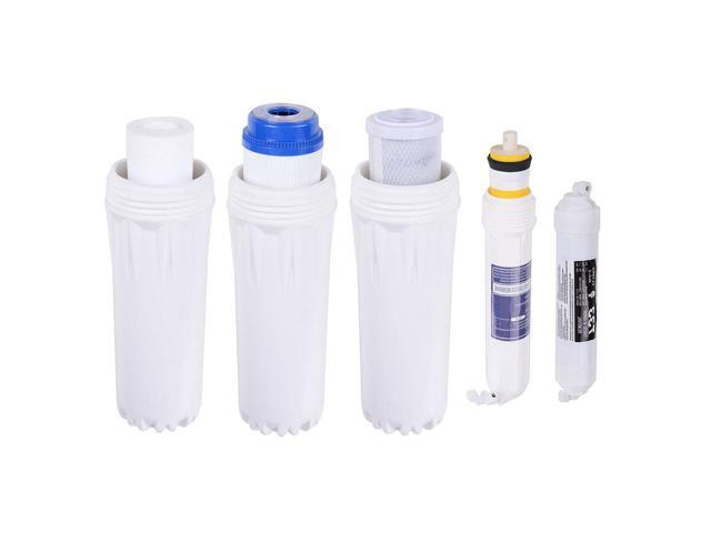 5 Stage Home Drinking Reverse Osmosis System PLUS Extra 8 Max Water Filters & Pressure Gauge