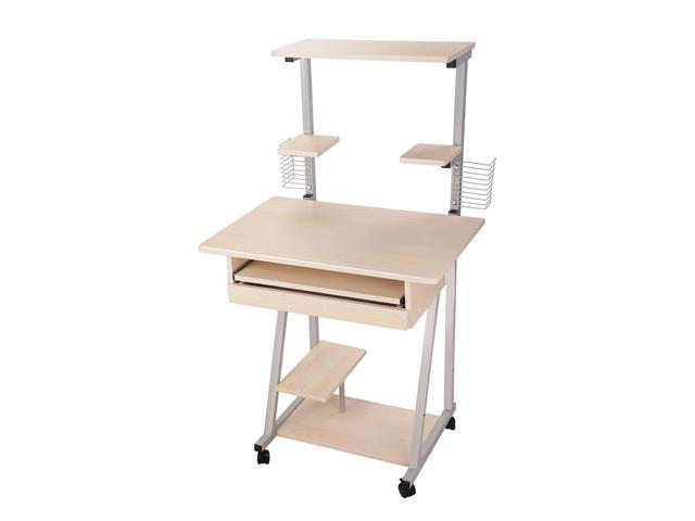 mobile computer desk tower printer shelf laptop rolling table study home office small furniture work tables