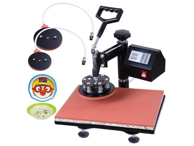 12x15 5in1 Heat Press Transfer Machine Digital Sublimation T-Shirt Mug Hat Plate Cap