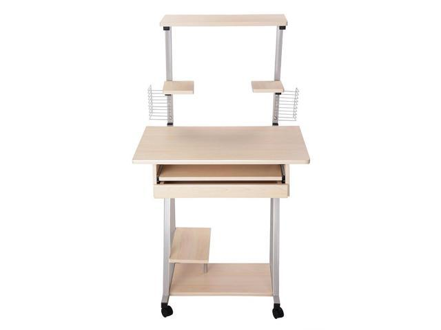 rolling office work tables mobile computer desk tower printer shelf laptop table study home furniture small