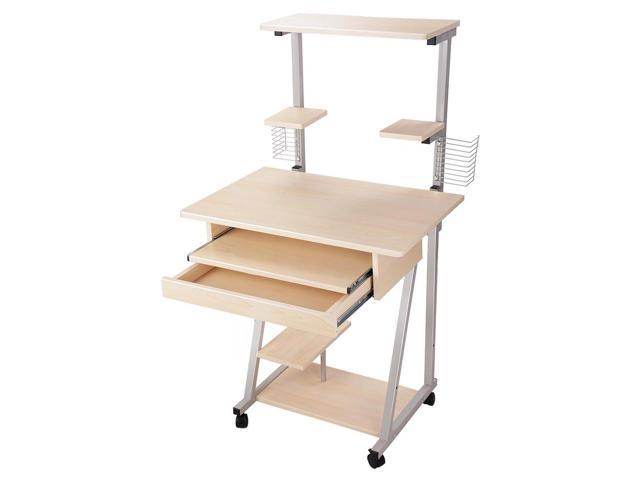 rolling office work tables table furniture mobile computer desk tower printer shelf laptop study home small