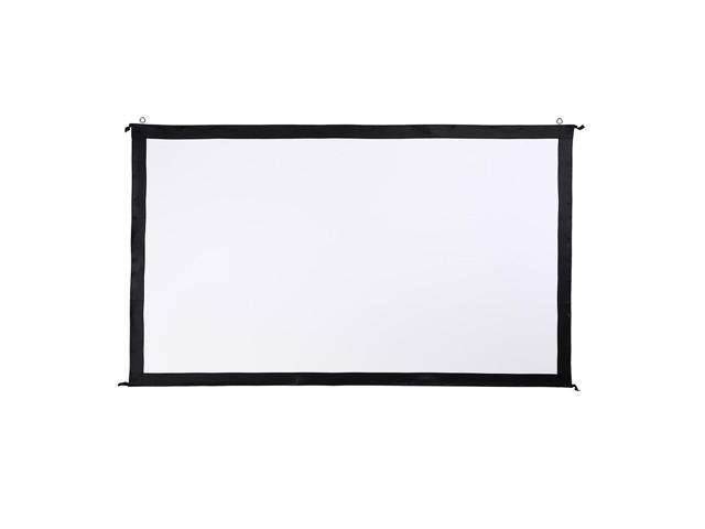 "135"" Portable Fast Folding Projector Screen 16:9 HD w/ Stand for Indoor Outdoor"