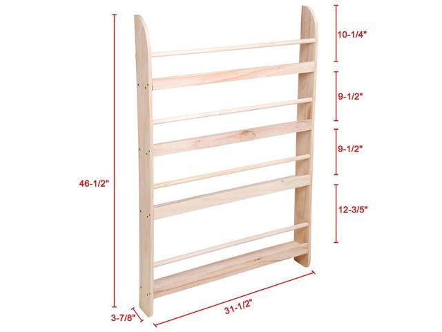 4 Tier Wood Wall Mounted Bookshelf Floating Shelf Book Rack Storage Display Space Saving Home Decor