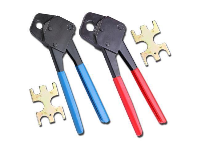 "2 Pex Crimper 1/2"" And 3/4"" Plumbing Crimping Gonogo Set Angle Gauge Tools Combo"