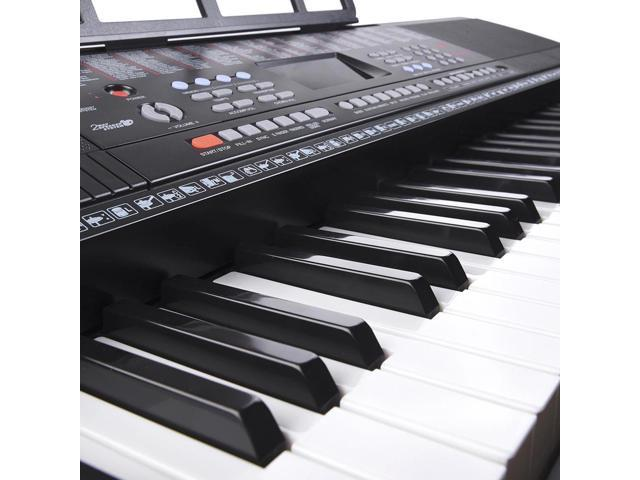 61 Key Full Size Electronic Music Keyboard Electric Piano LCD