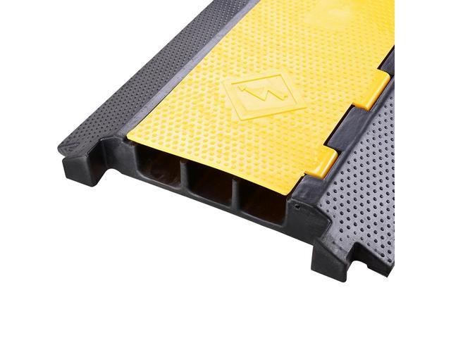 3 Channel Rubber Electrical Wire Cable Cover Ramp Guard Warehouse Cord Protector