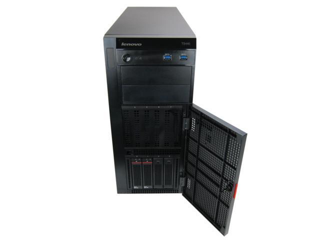 Lenovo ThinkServer TS440 70AMS02Q00 Tower 4LFF with Xeon E3-1225v3 3.20GHz QC, 4GB, 2x 500GB, 9240-8i, 2x450W