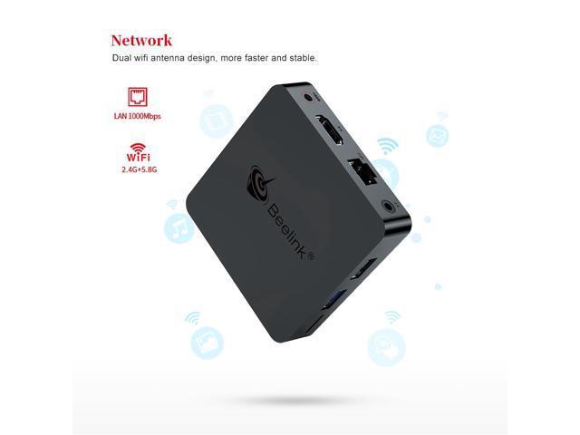 Beelink GT1 MINI TV Box with Voice Remote Amlogic S905x2 4G/32G 2.4G+5.8G WiFi 1000Mbps LAN USB3.0