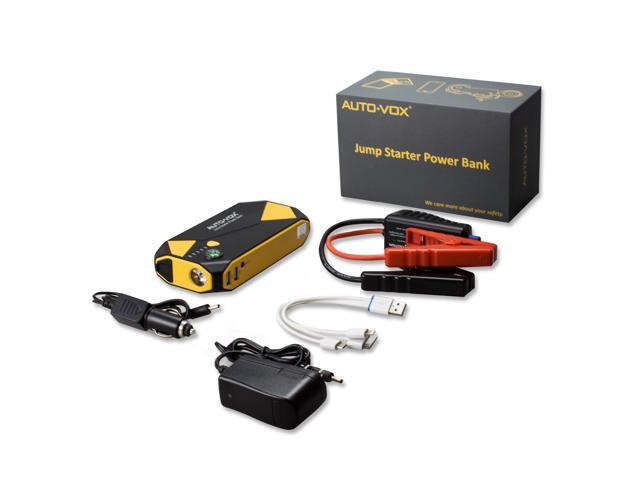 AUTO-VOX P2 Vehicle Jump Starter 14000mAh 500A Peak for Up to 5L Gas and 2L Diesel Engine Battery Booster Car Power Bank with Compass LED Lights & Multiple Slots