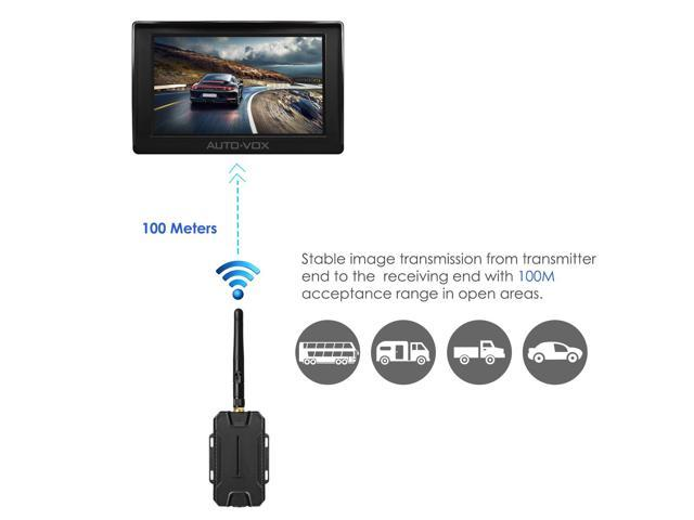 auto vox m1w wireless backup camera kit 4 3 39 39 lcd mirror. Black Bedroom Furniture Sets. Home Design Ideas