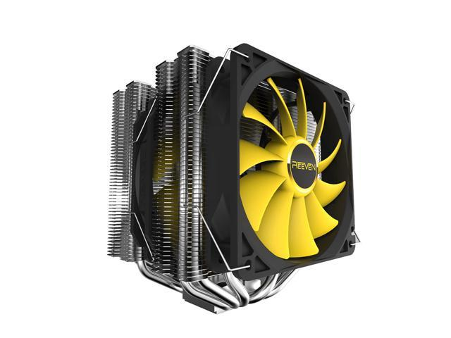 Reeven Okeanos Premium 140mm Dual Fans/Heatsinks CPU Cooler, 6 Heatpipes Copper Base
