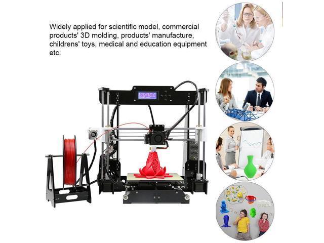ANET A8 3D Printer,Desktop Acrylic LCD Screen Printer 220 x 220 x