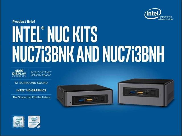 Intel NUC NUC7i3BNK Mini PC/HTPC, Intel Core i3-7100U 2 4GHz