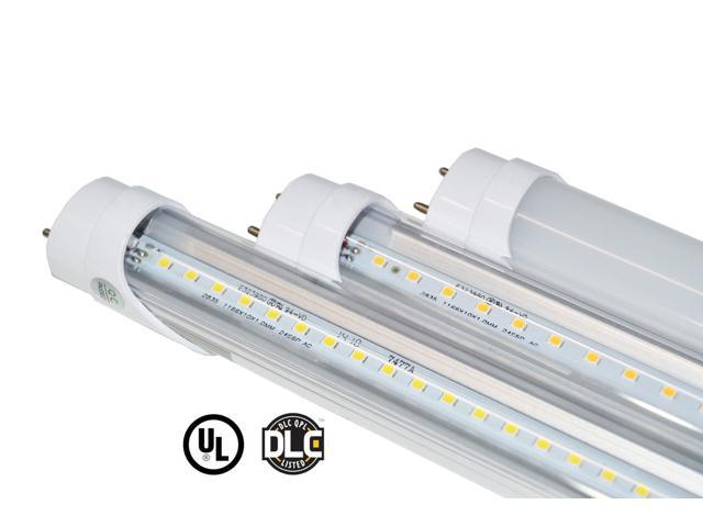 Green Light Depot 4ft 15W VersaT8 4000K Clear LED Tubes - 10 Pack - Ballast Compatible or Bypass - (UL+DLC)