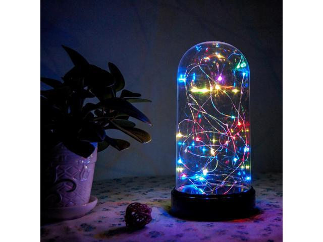 """Fuji Labs 30L Mini LED Multi Color String Light in Dome 9"""" High Battery Powered - OEM"""
