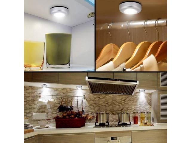 elecstars led wireless night light mini under cabinet lighting led bedside touch