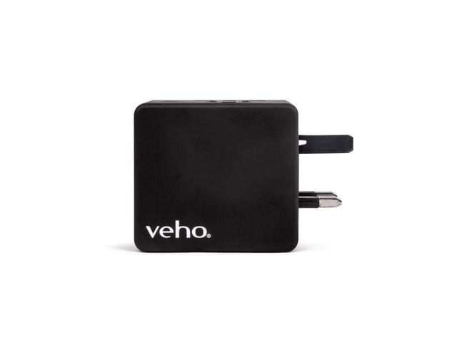 Veho TA-1 Universal World Travel Mains Plug Adapter with 4 USB Ports for US, UK, EU, AUS