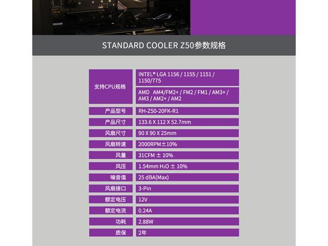 CoolerMaster Eagle Z50 CPU cooling AMD/Intel Fan