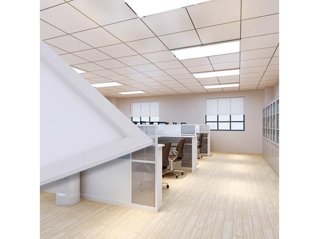 GMY Lighting 23.7''×47.71''×0.31'' 72W Ultra Thin Glare-Free Edge-Lit Ceiling LED Panel Light 5000k Daylight White (2 PACK)