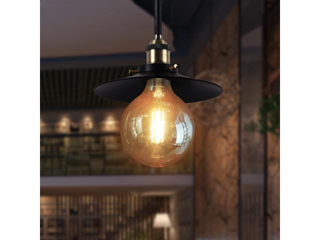 Globe  G40 3.5W LED Light Bulb Vintage Edison Style LED  Filament Light Bulb Medium E26 Base 25W Equivalent Decorative Amber Glass LED Bulb 2200K Warm White