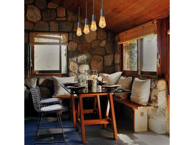 Vintage Edison LED Bulb Dimmable - ST21 Antique Amber LED Light Bulb Vertical Filament – 4 Watt 320 Lumens 40 Watt Equal - Warm White 2200K Amber Glass E26 Base(4 PACK)