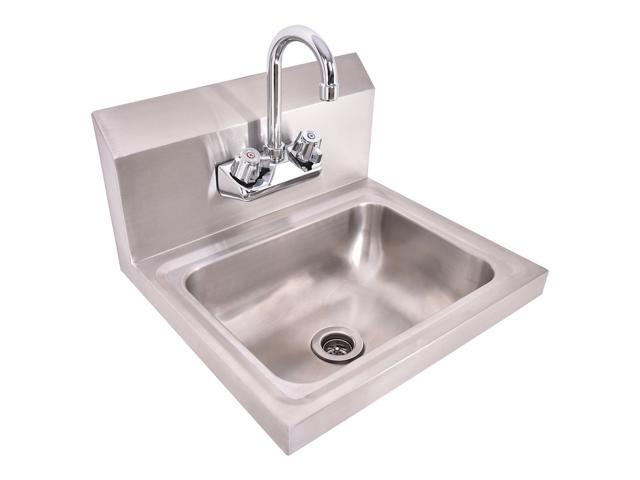 Stainless Steel Hand Wash Sink Washing Wall Mount Commercial Kitchen ...