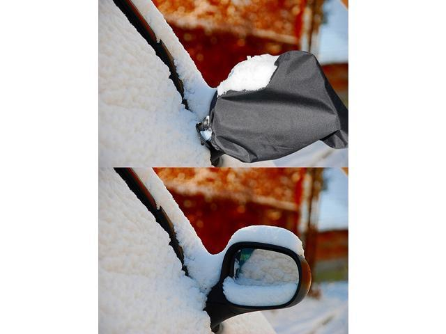 Mirror Snow Cover - Driver and Passenger Side View Wing Auto Mirrors Protector - Exterior Car Accessorie - Large Super Duty - Lightweight - Durable - 10.6 x 9.4 in Fits Most Cars Vans Suv - OEM