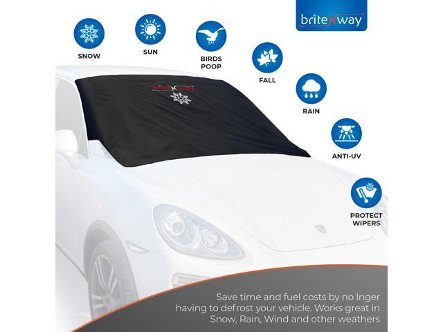 Heavy Duty Windshield & Wiper Cover for Ice & Snow – 12 Ultra Strong Heavily Padded Magnets – Absolutely Non-Scratch & Sturdy - Keep Your Vehicle Snow & Ice Free - No More Scraping and Brushing - OEM
