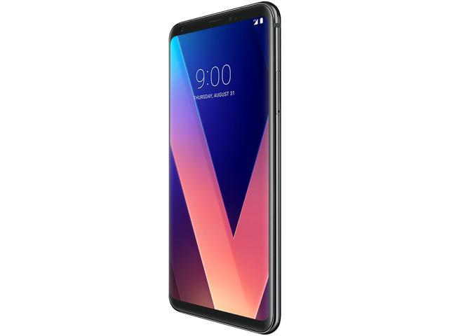Refurbished: LG V30+ LS998 128GB Unlocked GSM 4G LTE Android Phone w/ Dual 16MP|13MP Rear Camera - Aurora Black