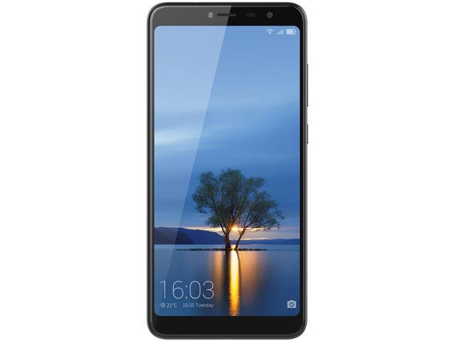 Hisense Infinity F24 16GB Unlocked GSM 4G LTE Android Phone w/ 13 MP Camera & 2.5D Curved Glass Display - Black