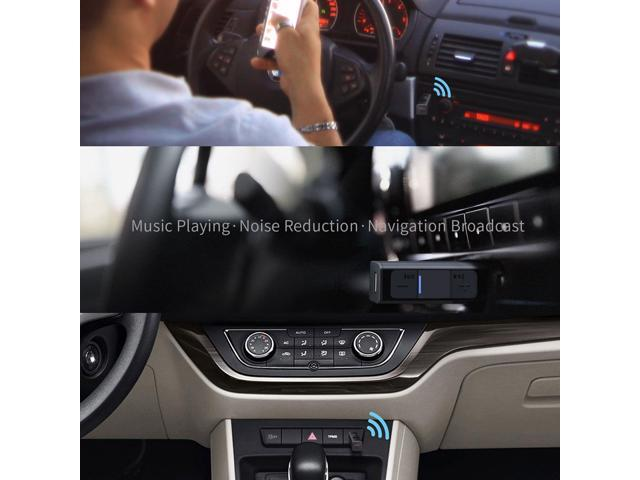 Bluetooth Car Receiver Adapter, TekHome 3.5mm Aux Bluetooth 4.2 Audio Converter for Headphones, Home Sound Stereo System, Hands-free Calling, 3-Button Song Volume Control, 5-Hour Portable Use.(BR100)