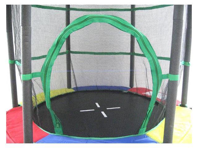 "ExacMe Youth Jumping Round Trampoline 55""Exercise Safety Pad Enclosure Combo Kids 0005"