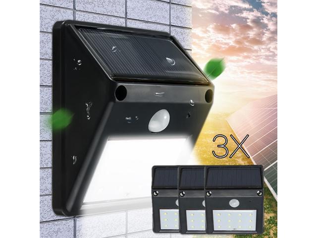 Five Star 3pcs Outdoor Lighting 12 Led Solar Ed Pir Motion Sensor Light Security Wall