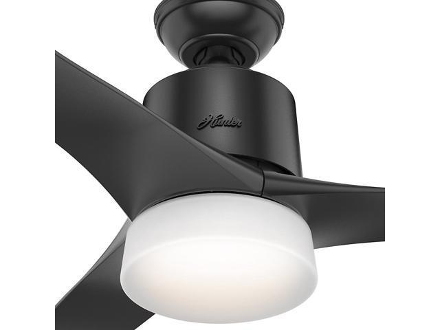 """Hunter WiFi Enabled HomeKit Compatible  54"""" Symphony Matte Black Ceiling Fan"""