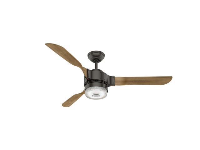 "Hunter WiFi Enabled HomeKit Compatible  54"" Apache Noble Bronze Ceiling Fan"