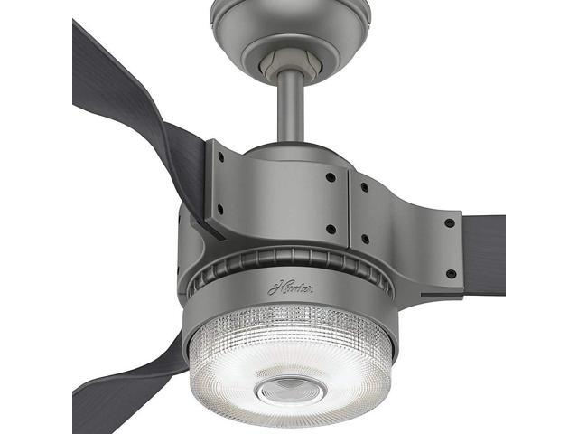 "Hunter 59381 WiFi Enabled HomeKit Compatible 54"" Apache Matte Silver Ceiling Fan"